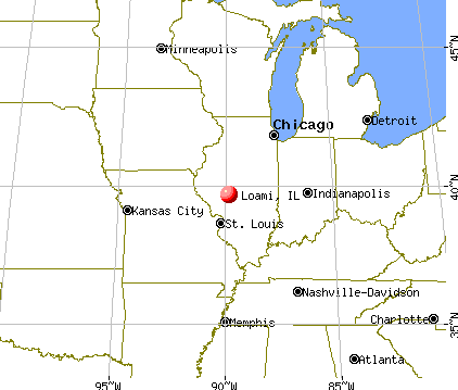 Loami, Illinois map