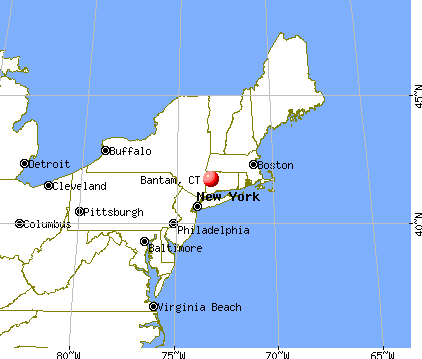 Bantam, Connecticut map