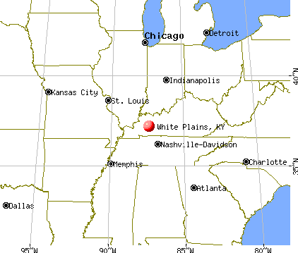 White Plains, Kentucky map