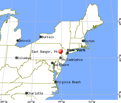 East Bangor, Pennsylvania map