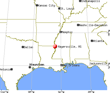 Mayersville, Mississippi map