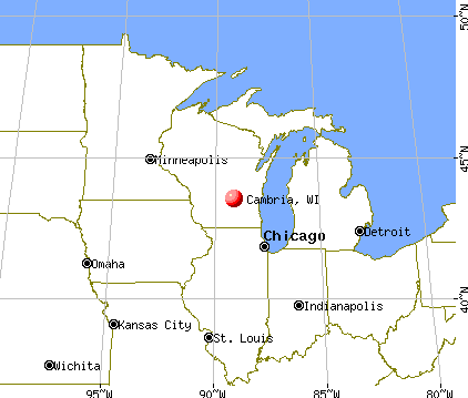 Cambria, Wisconsin map