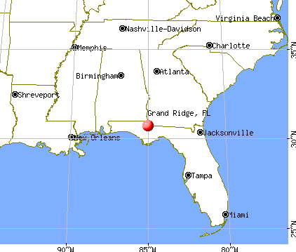 Grand Ridge, Florida map
