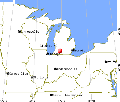 Climax, Michigan map