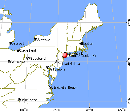 Saddle Rock, New York map