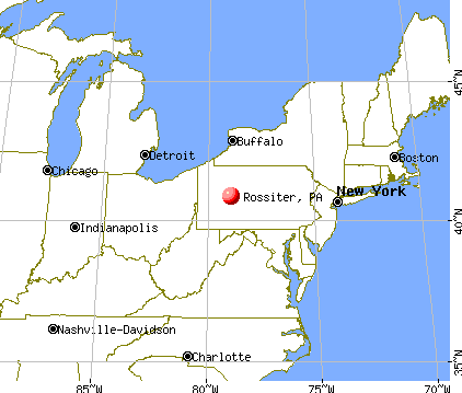Rossiter, Pennsylvania map