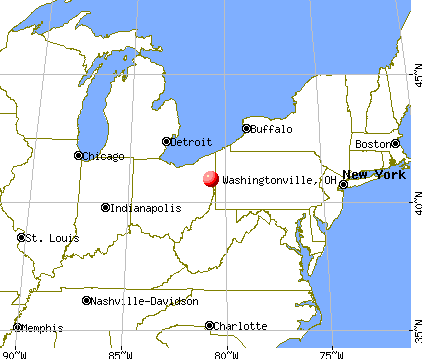 Washingtonville, Ohio map
