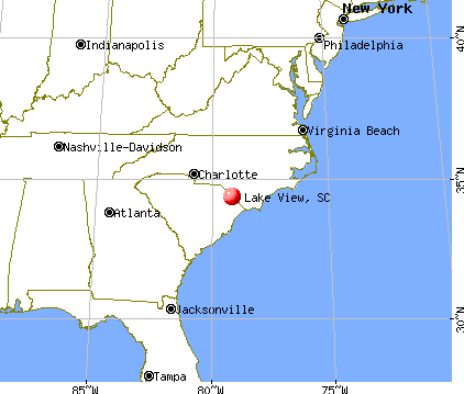 Lake View, South Carolina map