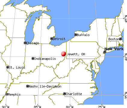 Jewett, Ohio map