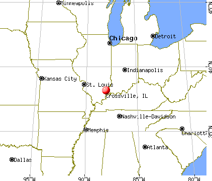 Crossville, Illinois map