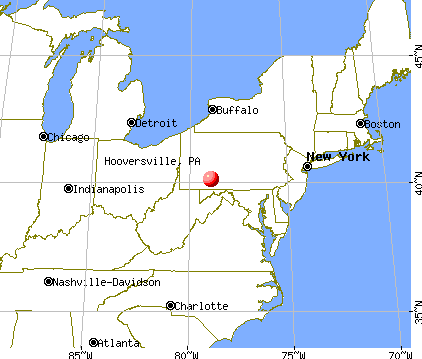Hooversville, Pennsylvania map