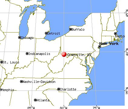 Granville, West Virginia map