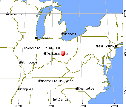 Commercial Point, Ohio map