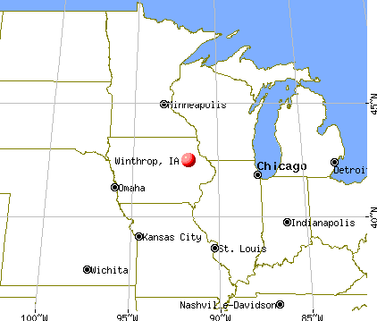 Winthrop, Iowa map