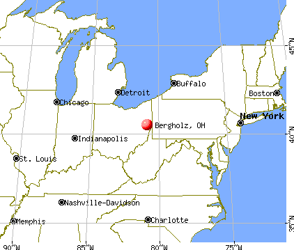 Bergholz, Ohio map