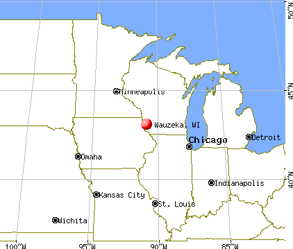 Wauzeka, Wisconsin map