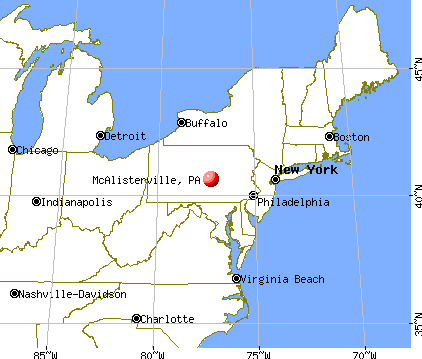 McAlisterville, Pennsylvania map