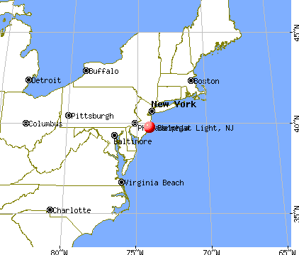 Barnegat Light, New Jersey map