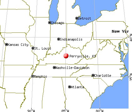 Perryville, Kentucky map