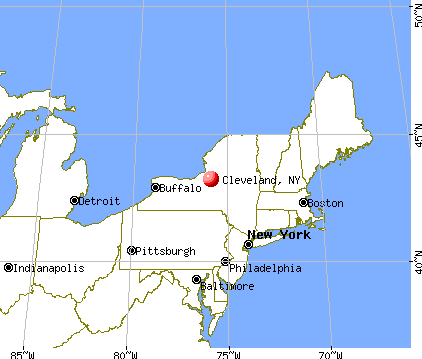 Cleveland, New York map