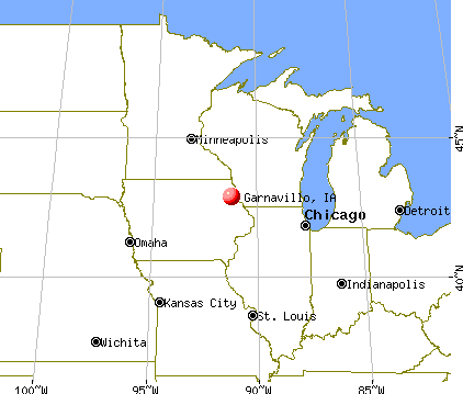 Garnavillo, Iowa map