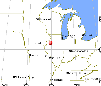 Oneida, Illinois map
