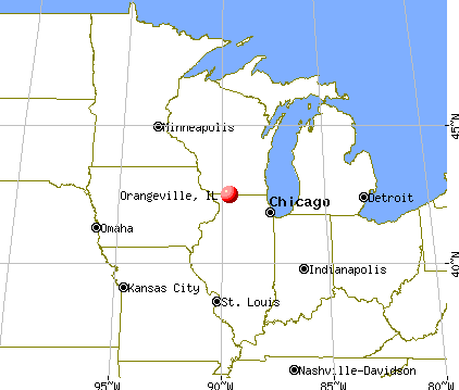 Orangeville, Illinois map