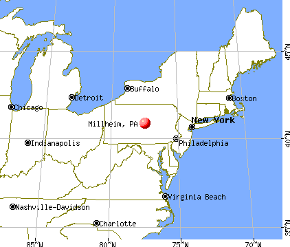 Millheim, Pennsylvania map
