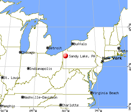 Sandy Lake, Pennsylvania map