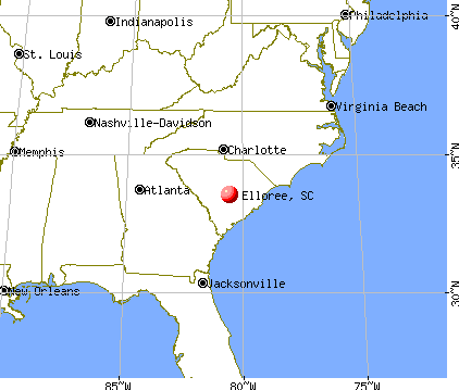 Elloree, South Carolina map