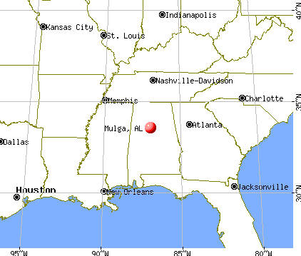 Mulga, Alabama map