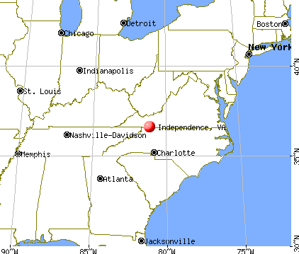 Independence, Virginia map