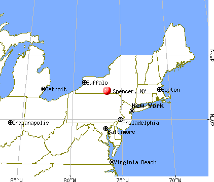 Spencer, New York map