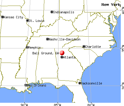 Ball Ground, Georgia map