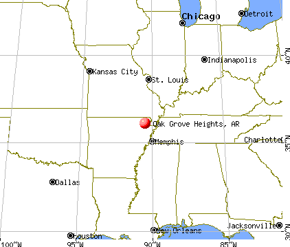 Oak Grove Heights, Arkansas map