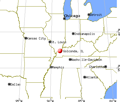 Golconda, Illinois map