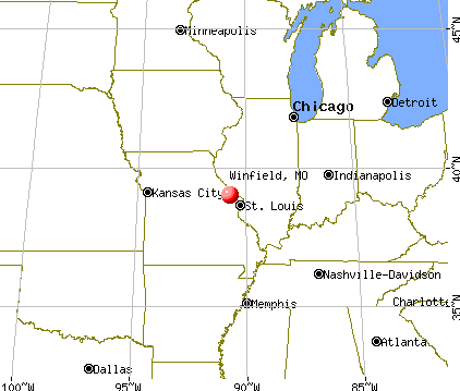 Winfield, Missouri map