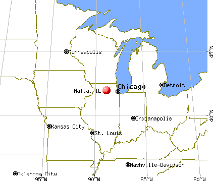 Malta, Illinois map