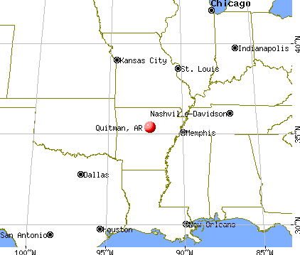 Quitman, Arkansas map
