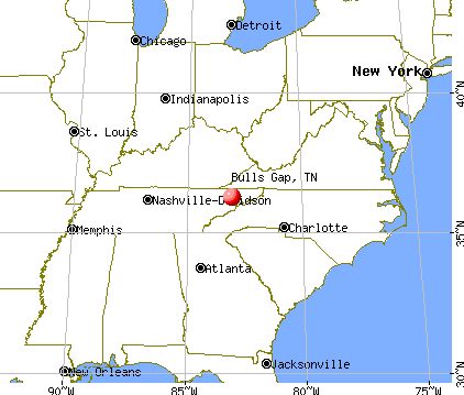 Bulls Gap, Tennessee map