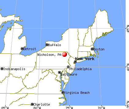 Nicholson, Pennsylvania map