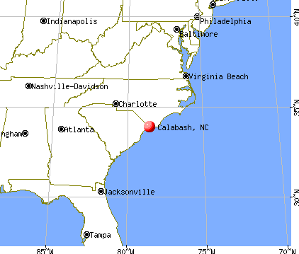 Calabash, North Carolina map