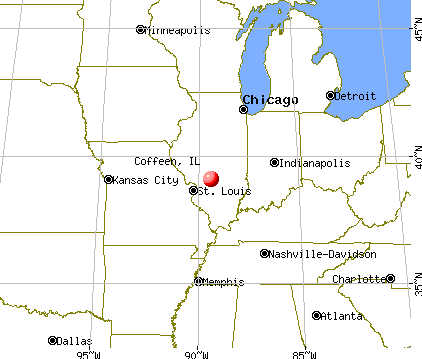 Coffeen, Illinois map
