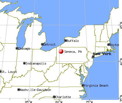 Seneca, Pennsylvania map