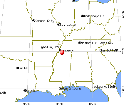 Byhalia, Mississippi map
