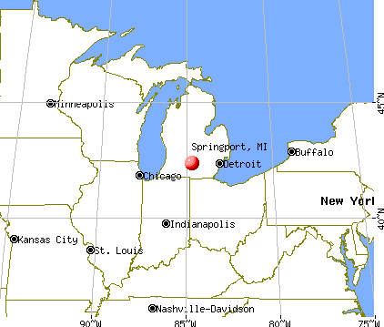 Springport, Michigan map