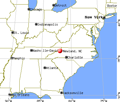 Newland, North Carolina map