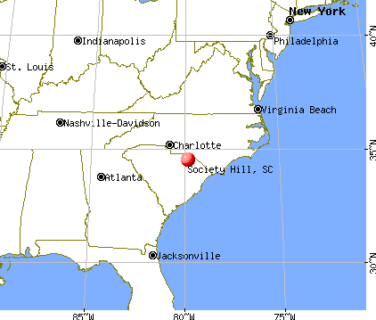 Society Hill, South Carolina map