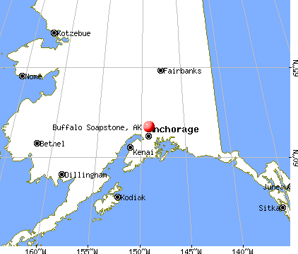 Buffalo Soapstone, Alaska map