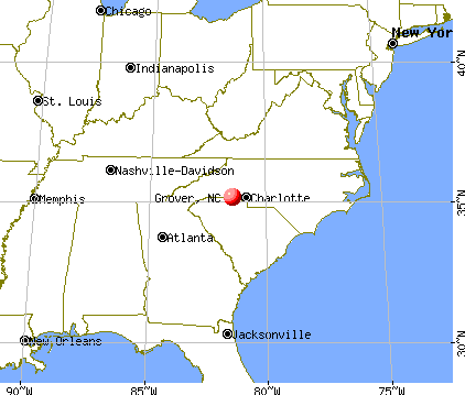 Grover, North Carolina map